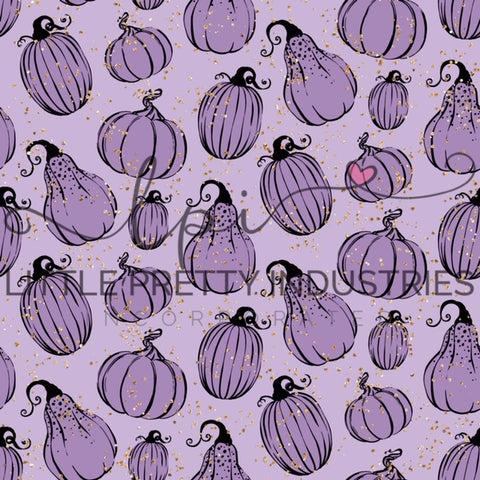 R22 : HALLOWEEN Pumpkin Sketch Purple