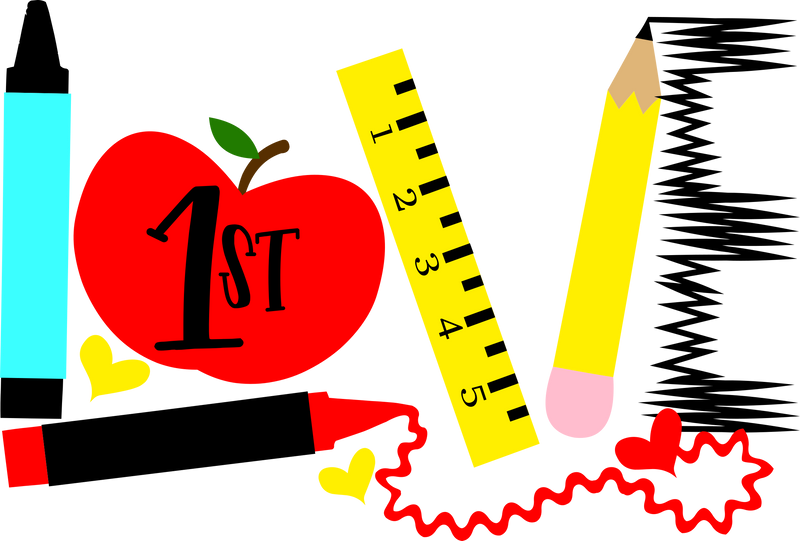 HMD Back To School LOVE 1st Grade (design only)