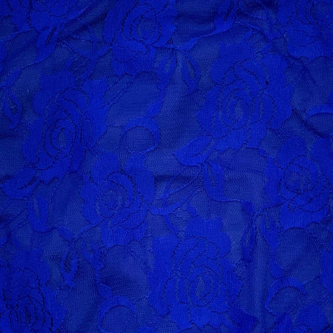 Royal Blue Lace Cap Sleeve Leotard (Short Sleeve)
