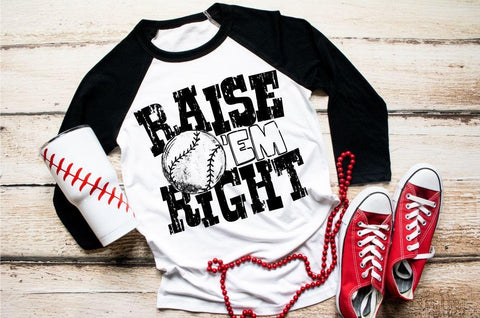HMDTR SPTS Raise Em Right Baseball (design only)