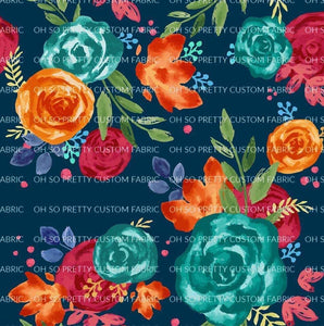 R22 : FALL - Blue Harvest Floral *NEW*