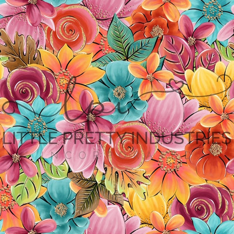 R22 : FALL - Harvest Sunset Floral *NEW*