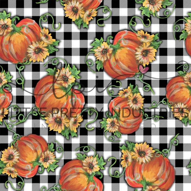 R22 : FALL - Halloween Pumpkins Plaid *NEW*