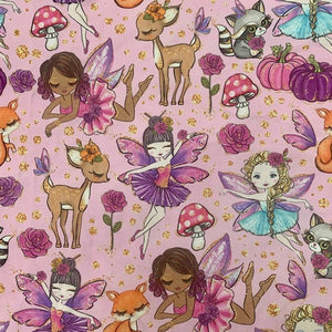 R22 : FALL - Pink Woodland Fairy *NEW*