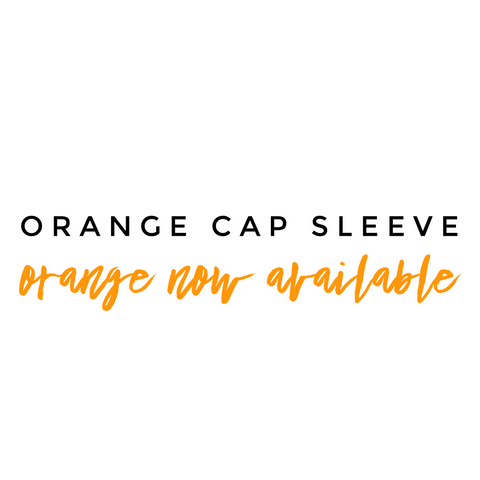 Orange Cap Sleeve leotard (Short Sleeve) - Morgan+Mae Co.