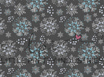 R23 : WINTER Snow Queen Snowflakes on Grey