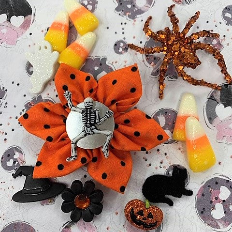 Bones Halloween Bow (as pictured) - Morgan+Mae Co.