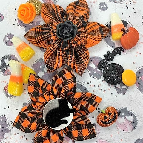 Orange Plaid Holiday Bow (as pictured) - Morgan+Mae Co.