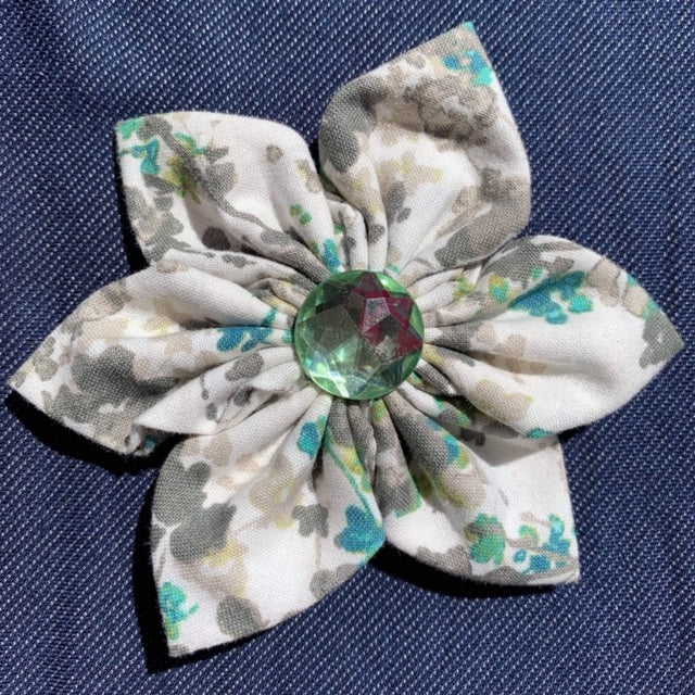 Grey and Teal Everyday Bow (as pictured) - Morgan+Mae Co.