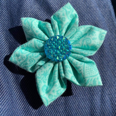 Teal Toile Everyday Bow (as pictured) - Morgan+Mae Co.