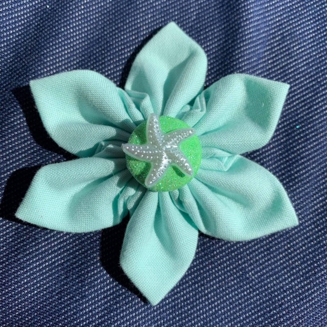 Mint Starfish Everyday Bow (as pictured) - Morgan+Mae Co.