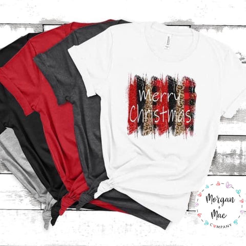 Merry Christmas Brushstrokes PRINTABLE (design only) - Morgan+Mae Co.