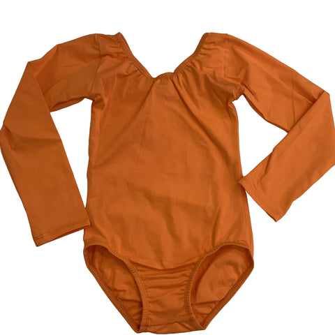 Orange (Long sleeve) leotard - Morgan+Mae Co.