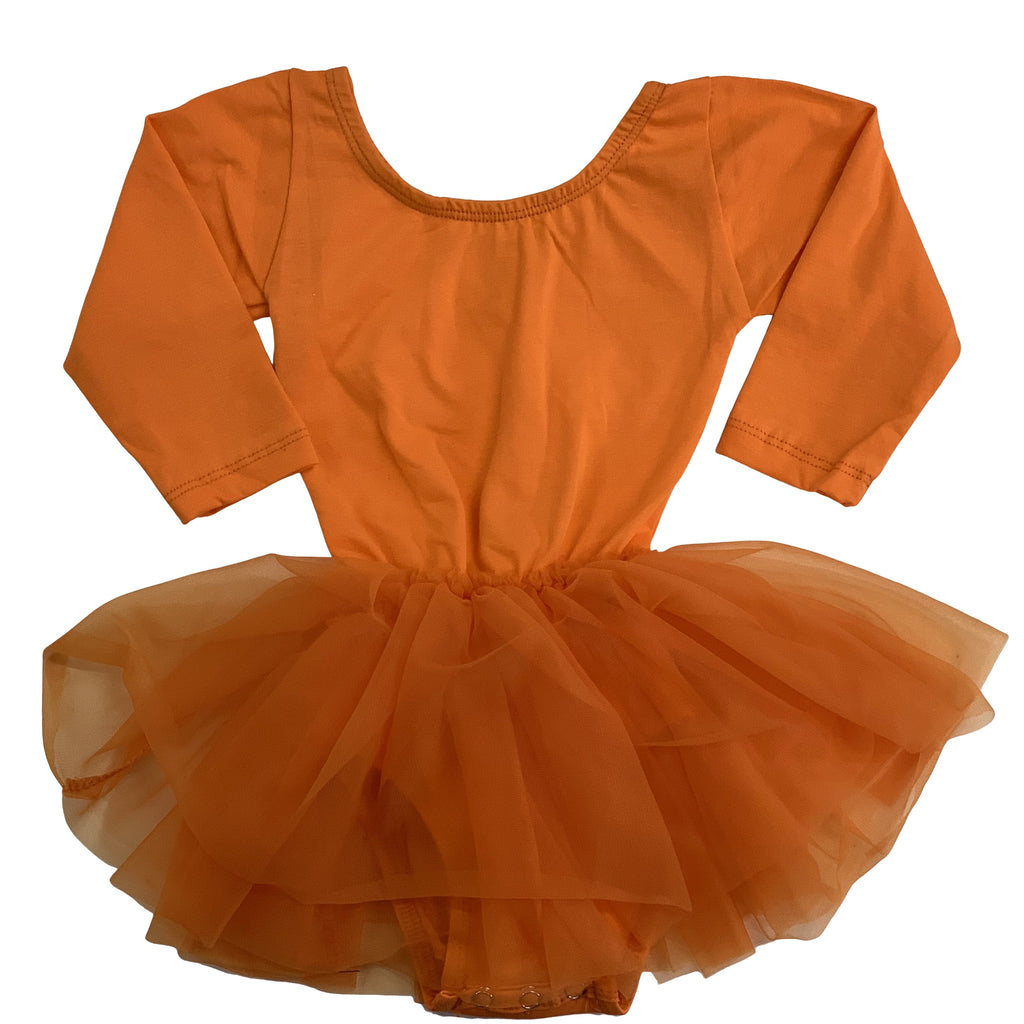 Halloween Pumpkin Tutu Dress Leotard (Orange Tutu) - Morgan+Mae Co.