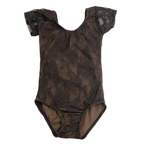 Chocolate Lace Leotard - Morgan+Mae Co.