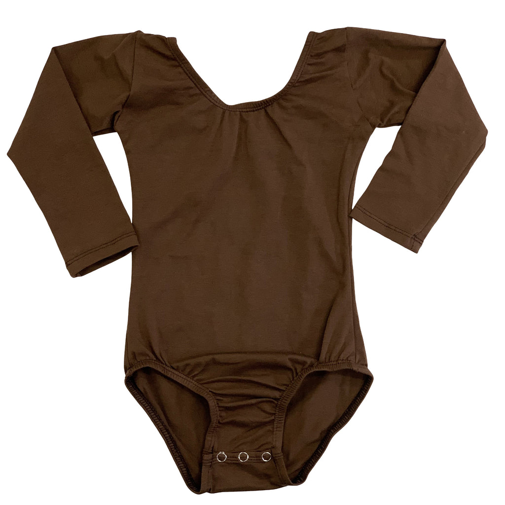 Chocolate (Long sleeve) leotard - Morgan+Mae Co.