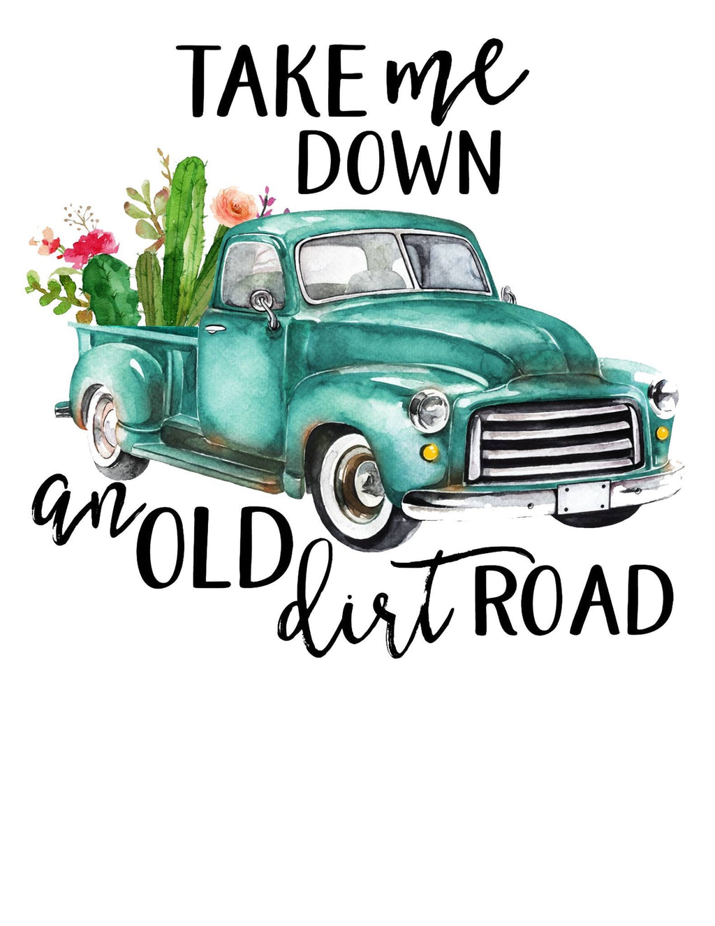 Old Dirt Road PRINTABLE (design only) - Morgan+Mae Co.