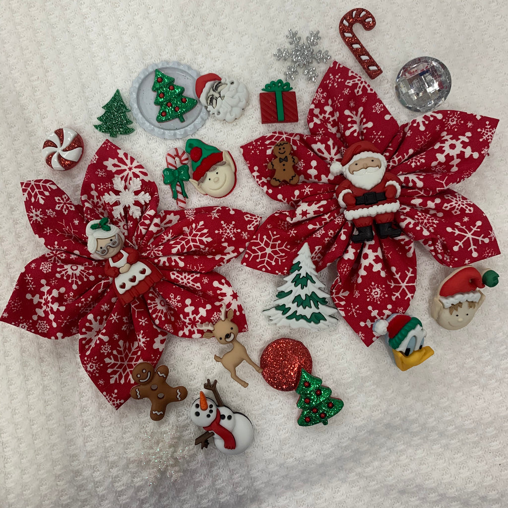 Red Snowflake Holiday Bow (as pictured) - Morgan+Mae Co.