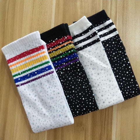Kids Rhinestone Knee Socks - IN STOCK