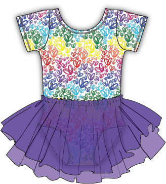 Little Pretty Hearts Purple Tutu BFCM PREORDER