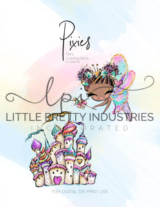 FREE Pixie Digital Coloring Book