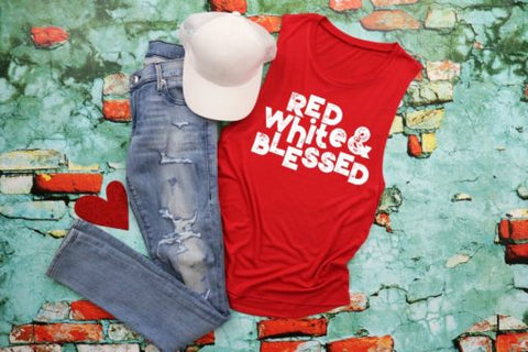 HMDTR PAT Red, White & Blessed (design only) *A22