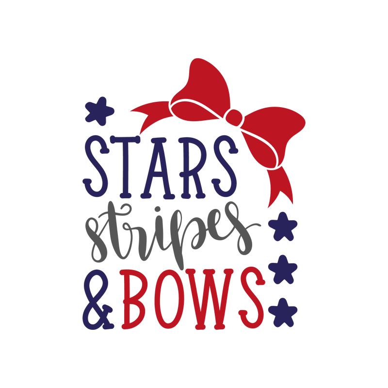 Stars stripes and bows (design only)