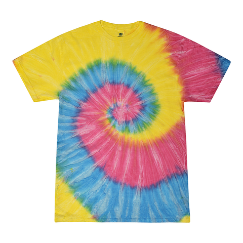 Tie Dye Adult Basic Crew Neck T-shirt (for design add-on)