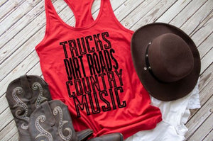 HMDTR MISC Trucks, Dirt Roads, Country Music (design only)