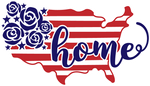 home usa with flowers (design only) - Morgan+Mae Co.
