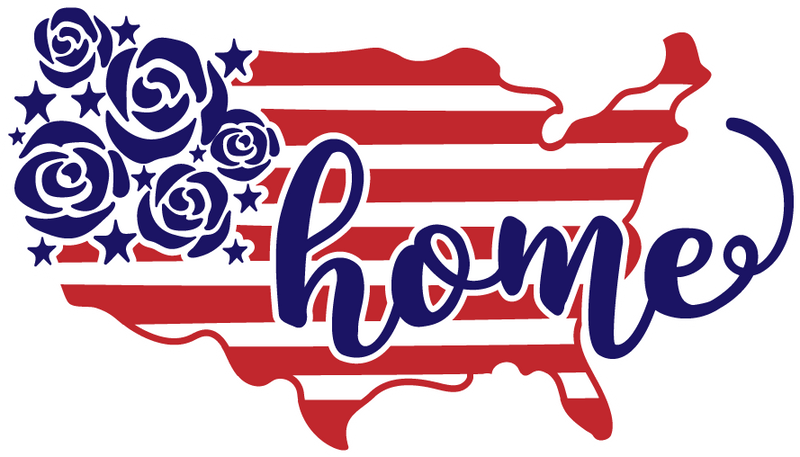 home usa with flowers (design only)