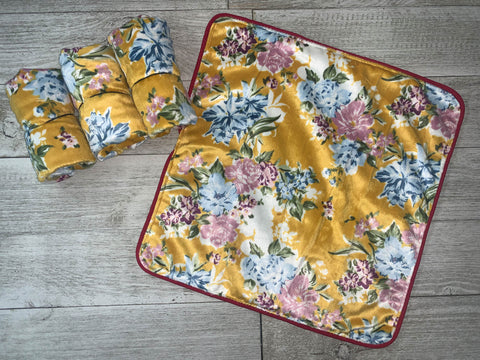 {RTS} Mustard Floral Lovey Cuddle Blanket (BRAND NEW)