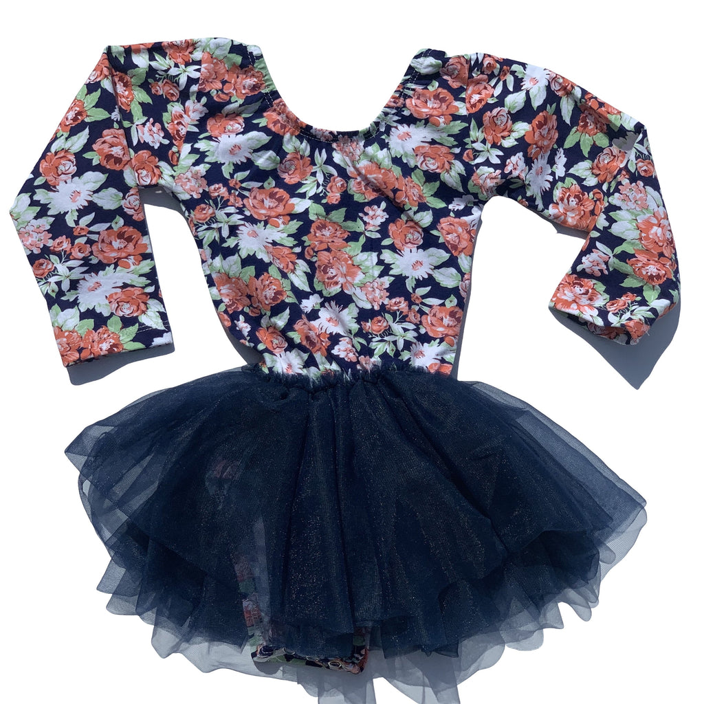 Fall Floral Tutu Dress Leotard - Morgan+Mae Co.