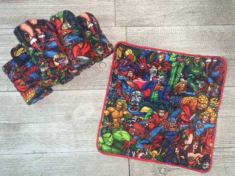 {RTS} Superheroes Lovey Cuddle Blanket (BRAND NEW)