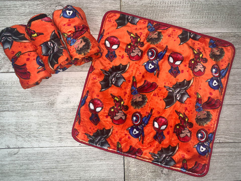 {RTS} Superhero Cartoons Lovey Cuddle Blanket (BRAND NEW)