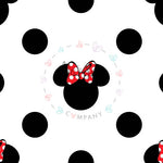 Classic M&M Ears White Dots - Morgan+Mae Co.