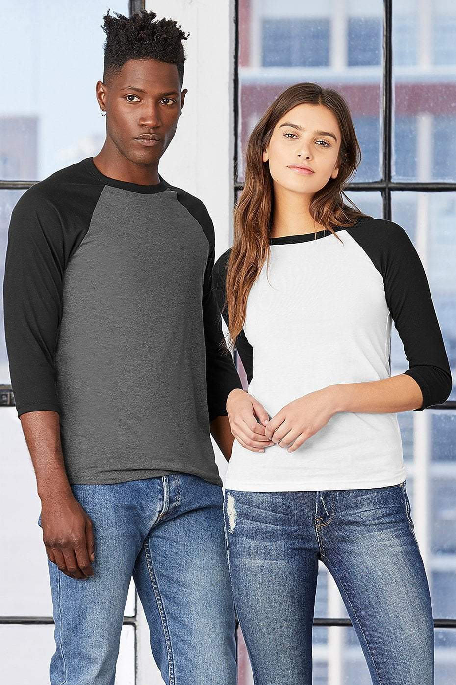 Adult Basic Unisex Raglan T-shirts (for design add-on)