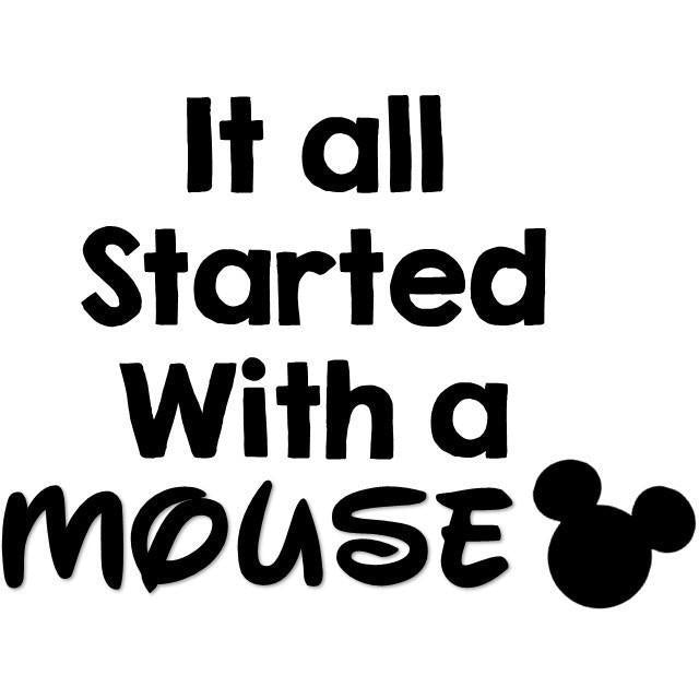 It all started with a mouse (design only)
