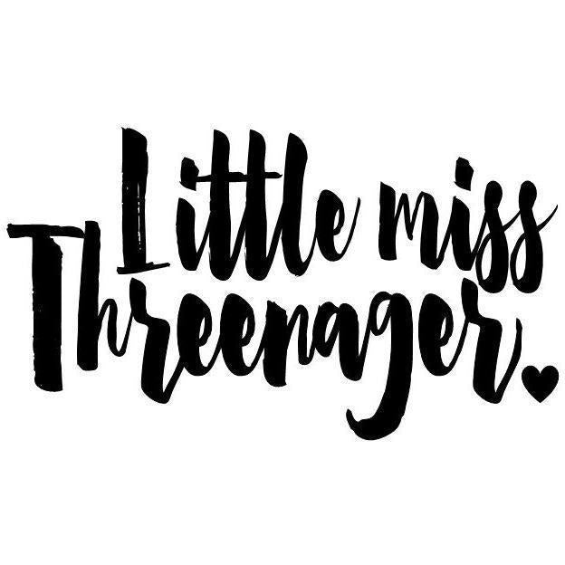 Morgan+Mae Co. Design Little Miss Threenager (design only)