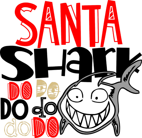 Santa Shark (design only) - Morgan+Mae Co.