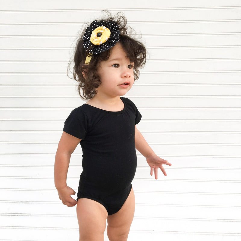 Morgan+Mae Co. Leotard Black Cap Sleeve Leotard (Short Sleeve)