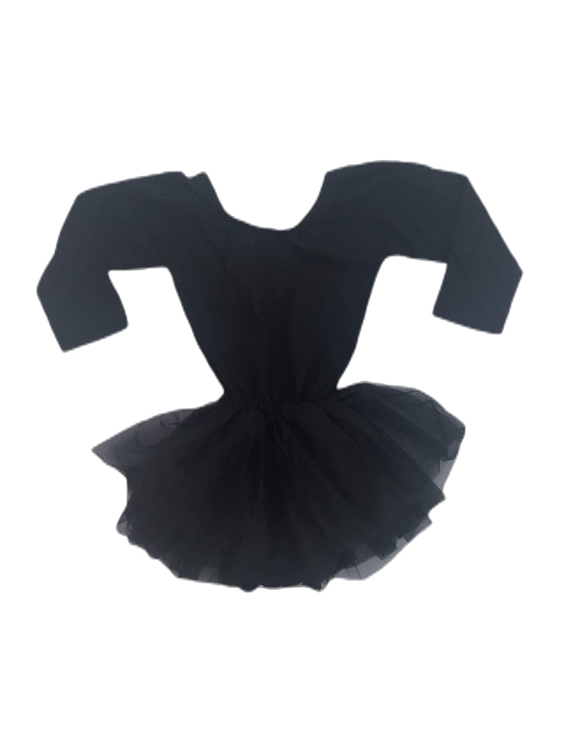 Morgan+Mae Co. Leotard Black Long Sleeve Tutu Dress Leotard