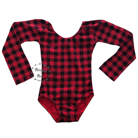 Buffalo Plaid (Long Sleeve) Leotard - Morgan+Mae Co.