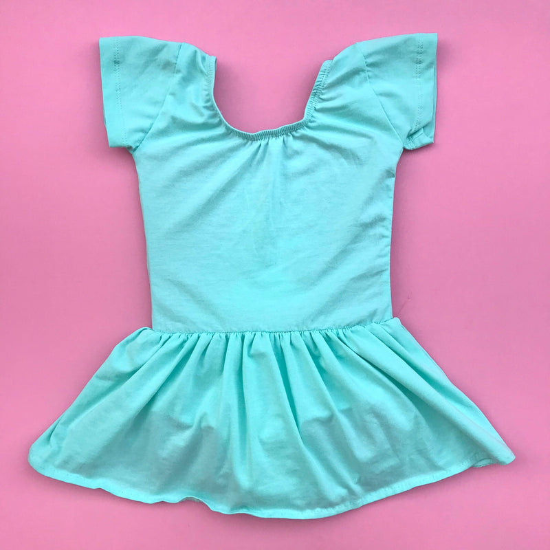 Cool Mint skirted leotard (dress) - Morgan+Mae Co.