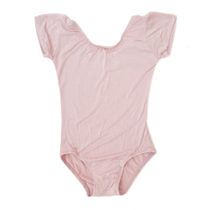 Dusty Rose/Vintage Pink Cap Sleeve Leotard (Short Sleeve)