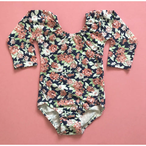 Fall Floral (Long Sleeve) Leotard - Morgan+Mae Co.