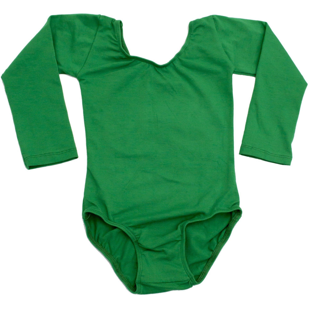 Green Long Sleeve Leotard - Morgan+Mae Co.