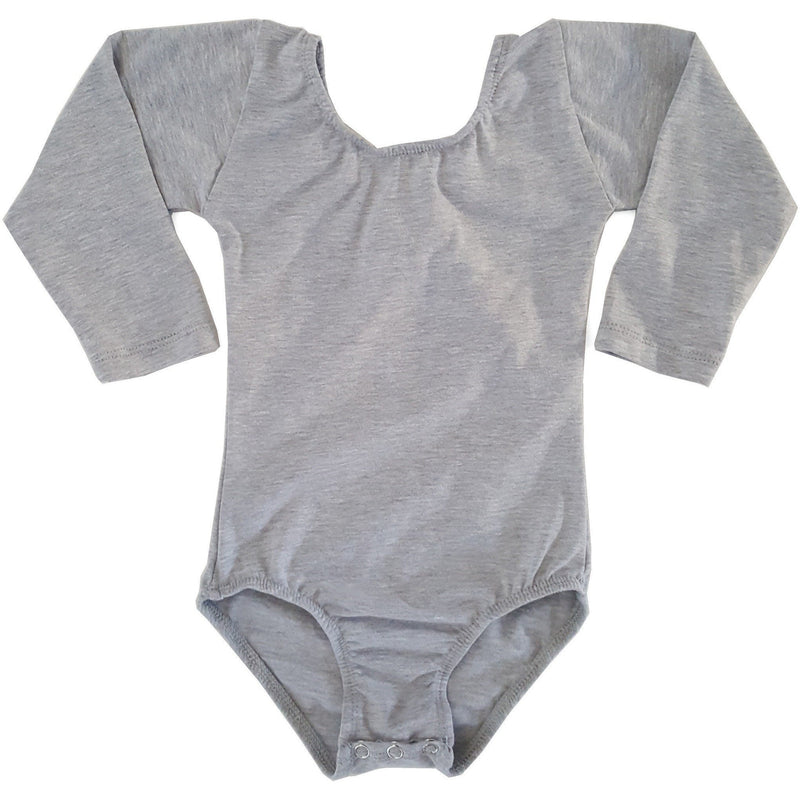 Heather Grey/Gray (Long Sleeve) Leotard - Morgan+Mae Co.
