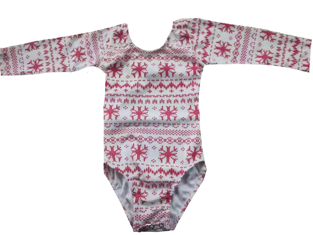 Morgan+Mae Co. Leotard Holiday Ugly Sweater (Long Sleeve) Leotard