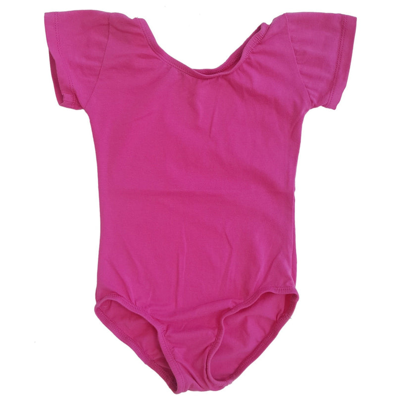Morgan+Mae Co. Leotard Hot Pink Cap Sleeve Leotard (Short Sleeve)